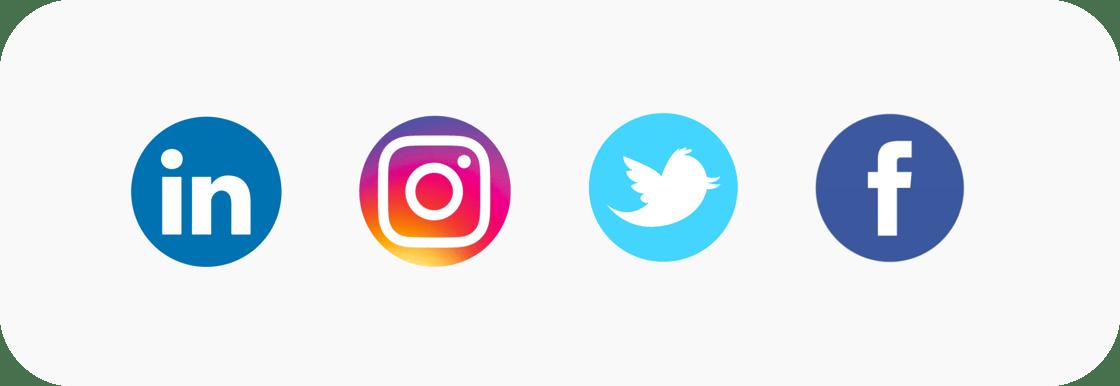 Les réseaux sociaux de Wizim : LinkedIn, Instagram, Twitter et Facebook